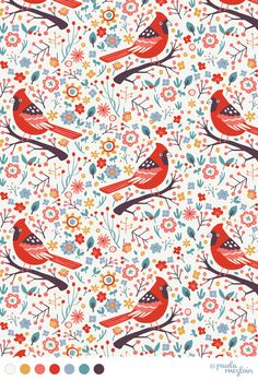 Red Cardinals by Paula McGloin @Paula McGloin www.paulamcgloin.com