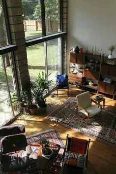 living room Eames lounge chair