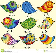Birds of a feather don't necessarily flock together. Sometimes they just enjoy diversity and meeting birds of a different color and point of view. Colorful Birds by Adroach) Bird Drawings, Doodle Drawings, Doodle Art, Pottery Painting, Fabric Painting, Vogel Quilt, Bird Doodle, Art Fantaisiste, Diy Canvas Art