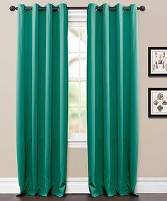 Look at this #zulilyfind! Aqua Jameson Curtain Panel - Set of Two #zulilyfinds
