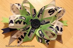 Seattle Seahawks Hair Bow