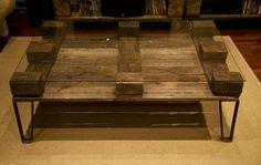 DIY Glass Top Pallet Coffee Table | 101 Pallets