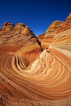 The Wave, rock formation in Coyote Buttes North, Paria Canyon-Vermilion Cliffs…