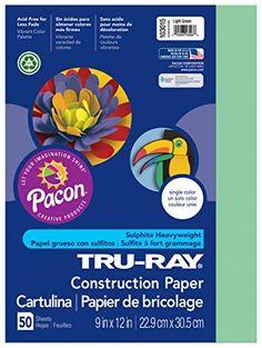 Riverside Paper TruRayR Construction Paper 9in x 12in Light Green