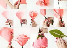 お花の形別!デザイン別ジャイアントペーパーフラワーの作り方