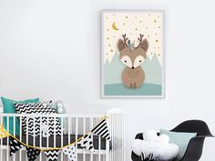 Hey, I found this really awesome Etsy listing at https://www.etsy.com/il-en/listing/549280343/woodland-nursery-deer-print-nursery-wall