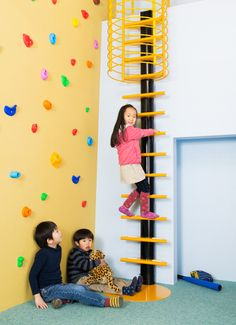 Colorful, Modern Interior Ladders for Kids