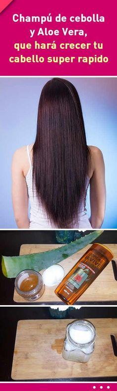 Champú de cebolla y Aloe Vera, que hará crecer tu cabello super rapido #champú #casero #crecer #cabello #pelo #caida