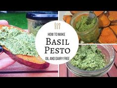 Oil and Dairy Free Basil Pesto! Easy, Healthy and Vegan! - YouTube