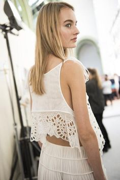 A look backstage at Chloé's Spring 2016 runway show