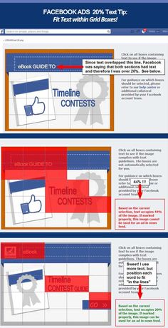How to overcome Facebook's 20% rule on text in ads #infographic