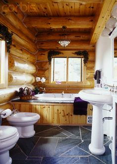 1000 Images About Log Home Bathrooms On Pinterest Log