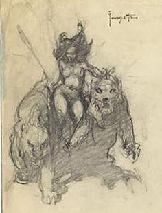 A Burning Designer: Frank Frazetta (Part 5) More sketches