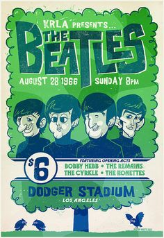 Beatles poster by jublin, via Flickr