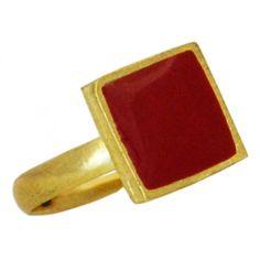 Bague Cuadro Rouge - Inde