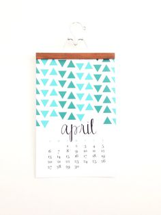 2014 Monthly Wall Calendar  Bold Modern by ChristineMarieB on Etsy, $35.00