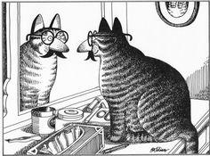 Kliban Cat Original Vintage Art Print by RockPaperNScissors, $9.97