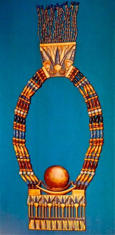 King Tutankhamun's Necklace  Love this! I've been fascinated with his discovery in 1922 since I was a little girl. I have been to both traveling shows of his treasures exhibited in Wash. D.C. in 1976 and in Philadelphia in 2006!