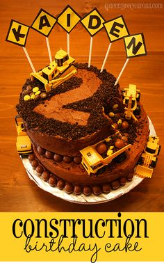 Construction Cake - Kid's Birthday Cake Idea