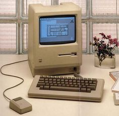 1984 - Macintosh. Oh yea. The first Mac looked REAL simple.