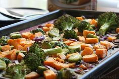 This Roasted Fall Vegetable Orzo is an easy pasta recipe that combines delicate orzo pasta with easy roasted fall vegetables. Best Baked Sweet Potato, Sweet Potato Oven, Oven Roasted Sweet Potatoes, Steamed Sweet Potato, Cooking Sweet Potatoes, Oven Baked Broccoli, Roasted Brocolli, Broccoli And Potatoes, Roasting Frozen Vegetables