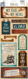 Scrapbooking Clearance > My Dad, My Hero Cardstock Stickers By Bo Bunny: Stickers Galore