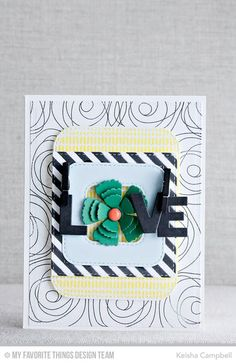 Circle Scribbles Flowers, Sweater Stitch Background, By the Letters Die-namics, Layered Rose Die-namics, Inside & Out Stitched Rounded Square STAX Die-namics, Diagonal Stripes Stencil - Keisha Campbell  #mftstamps