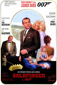 *m. JAMES BOND - GOLDFINGER - movie poster by P-Lukaszewski.deviantart.com on @DeviantArt