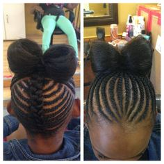 Awesome bow braid unbeliveible! She is rocking the hair what do you think about it?