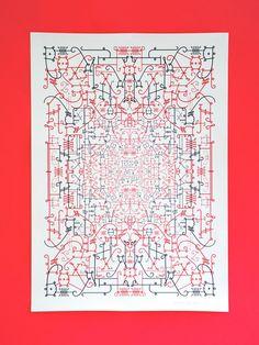 Just My Type Poster - Jonathan Barnbrook David Bowie Album Covers, Jonathan Barnbrook, Commemorative Stamps, Album Cover Design, Type Posters, Printed Matter, Catalog Design, Environmental Graphics, Custom Fonts