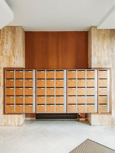 Office Lockers, Mail Room, Metal Wall Panel, Lobby Interior, Wardrobe Cabinets, Lobbies, Stores, Mailbox, Interior Design Living Room