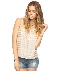 Spangled Stripe Top | LOVE21 - 2000037643