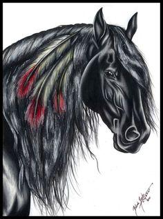 Horse painting, by Belinda Narutera.