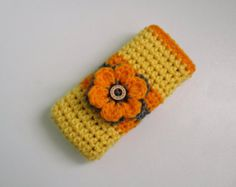 Cat Design Phone Case/ Mobile Phone Cover Knit and by Nitcraft