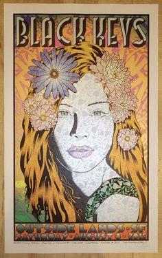 2015 The Black Keys - San Francisco Silkscreen Concert Poster by Chuck Sperry