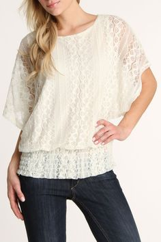 Amy Lace Dolman Blouse