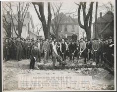 Groundbreaking for the Masonic Temple in Franklin IN in 1922.