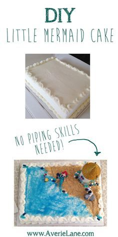 DIY Little Mermaid Cake from a costco cake