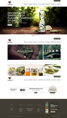Food and heritage website style. Rustic and gives the personality of the brand