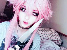 Yuno Gasai (Miraii Nikki) cosplay makeup