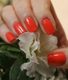 The Rainbow Ladies 2.0 Orange: OPI Call Me Gwn-Ever
