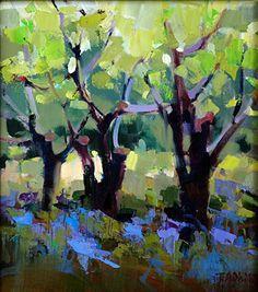 Old Orchard by Trisha Adams Oil ~ 13 x 11.5