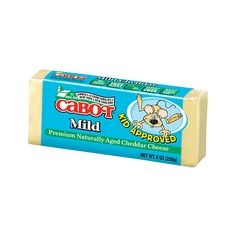 With its smooth, creamy flavor, Cabots kid approved mild cheddar cheese is a great introduction to Cabots all natural premium cheddar products. Get it now!
