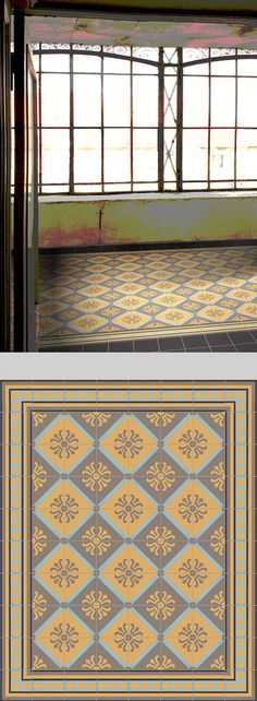 golem kunst und baukeramik gmbh verlegebeispiel sf 323 b. Black Bedroom Furniture Sets. Home Design Ideas