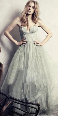 Modest Prom Dress,Gray prom dress,A-line prom dress,Sweetheart Prom Gown,Tulle prom dress #gray #aline #promdress #sweetheart #long #evening