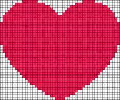 Alpha friendship bracelet pattern added by vercambros. Everything Cross Stitch, Cross Stitch Heart, Cross Stitch Alphabet, Cross Stitch Embroidery, Crochet Heart Blanket, C2c Crochet, Crochet Chart, Crochet Baby Dress Pattern, Tapestry Crochet Patterns