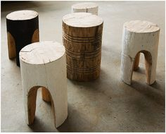 wood Stool- LOVE THESE!