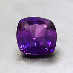 6mm Premium Purple Cushion Sapphire #BrilliantEarth