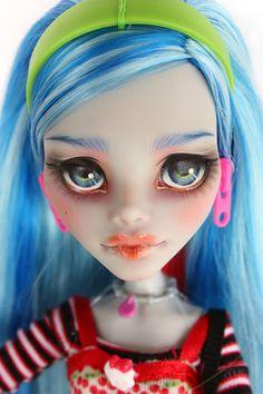 Monster High Ghoulia Yelps Repaint OOAK Custom Doll