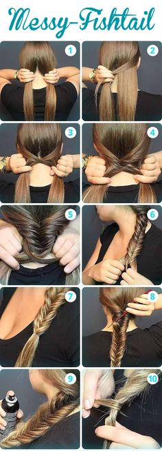 How to create a Messy Fishtail